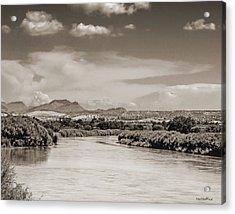 Rio Grande In Sepia Acrylic Print