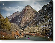 Acrylic Print featuring the photograph Rio Grande Racecourse In Winter by Atom Crawford