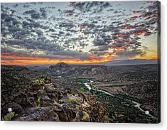 Rio Grande River Sunrise 2 - White Rock New Mexico Acrylic Print