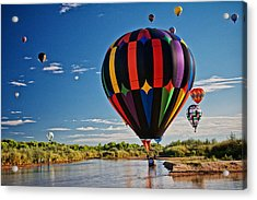 Rio Grande Splash Down, New Mexico Acrylic Print