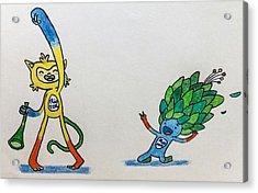 Rio Olympics Mascot 2016  Acrylic Print