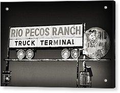 Rio Pecos Ranch Truck Terminal Acrylic Print