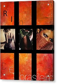 Rio-vogue Series Acrylic Print by Vel Verrept