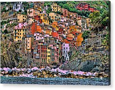 Acrylic Print featuring the photograph Riomaggiore by Allen Beatty