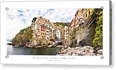 Riomaggiore Italy Acrylic Print by Carl Amoth