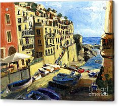 Riomaggiore Italy Late Afternoon Acrylic Print