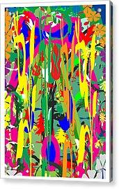 Riot Of Colors  Happy Times Natue Abstract By Navin Joshi May 2015 Acrylic Print by Navin Joshi