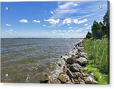 Acrylic Print featuring the photograph Rip-rap On The Chester River by Charles Kraus