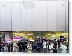 Rip Steve Jobs . October 5 2011 . San Francisco Apple Store Memorial 7dimg8561 Acrylic Print by Wingsdomain Art and Photography