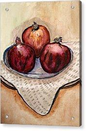 Ripe Pomegranates . Acrylic Print