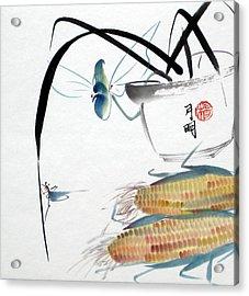 Ripen Corns Acrylic Print by Ming Yeung