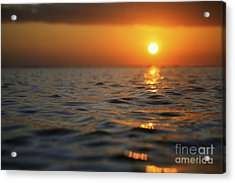 Rippled Sunset Acrylic Print by Brandon Tabiolo - Printscapes