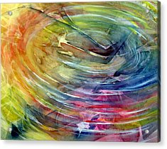 Acrylic Print featuring the painting Ripples by Allison Ashton