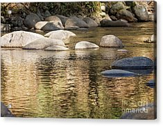 Acrylic Print featuring the photograph Ripples And Rocks by Linda Lees