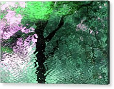 Ripples In Pink Acrylic Print by Carolyn Stagger Cokley