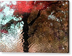 Ripples In Red Acrylic Print by Carolyn Stagger Cokley