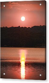 Ripples Of Sunset Acrylic Print by Daphne Sampson