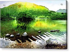 Ripples On Rydal Water Acrylic Print