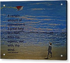 Rise Against The Wind Acrylic Print by Ian  MacDonald