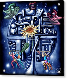 Rise Of The Machines Acrylic Print by Tighe O'DonoghueRoss