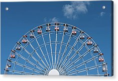 Rise Up Ferris Wheel In The Clouds Seaside Nj Acrylic Print by Terry DeLuco
