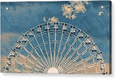 Rise Up Ferris Wheel In The Clouds Acrylic Print by Terry DeLuco