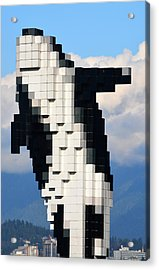 Rising Above Vancouver Acrylic Print by Richard Andrews