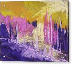 Rising Against Yellow Acrylic Print by John Williams