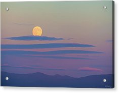 Rising Harvest Moon  Acrylic Print