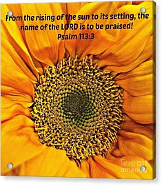 Rising Of The Sun Acrylic Print