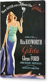 Rita Hayworth As Gilda Acrylic Print by Georgia Fowler