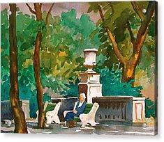 Rittenhouse Square Acrylic Print by Faye Ziegler