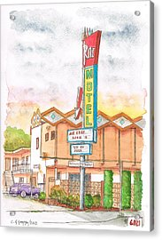 Ritz Motel In North Hollywood - California Acrylic Print