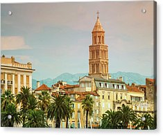 Riva Waterfront, Houses And Cathedral Of Saint Domnius, Dujam, D Acrylic Print