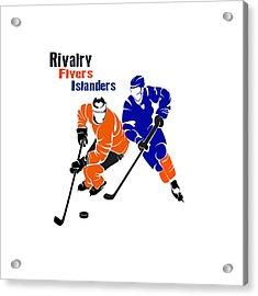 Rivalry Flyers Islanders Shirt Acrylic Print by Joe Hamilton