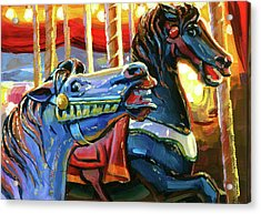 Acrylic Print featuring the painting Rivalry by Lesley Spanos