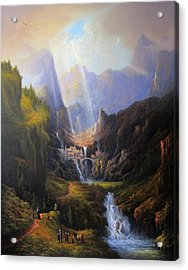 Rivendell. The Last Homely House.  Acrylic Print by Joe Gilronan