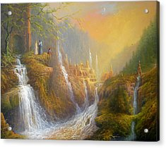 Rivendell Wisdom Of The Elves. Acrylic Print by Joe  Gilronan