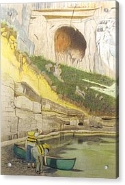 River Adventure Acrylic Print by Myrna Salaun