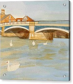 River At Royal Windsor Acrylic Print by Joanne Perkins