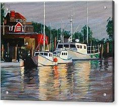 River Boats Acrylic Print