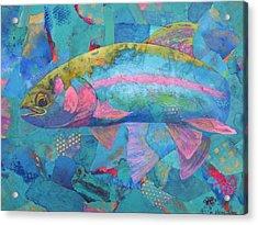 River Bow Acrylic Print by Nancy Jolley