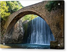 Acrylic Print featuring the photograph River Bridge by Nikos Stavrakas