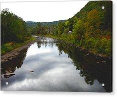 River Cabin Acrylic Print