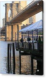 River Cafe With Brooklyn Bridge Acrylic Print