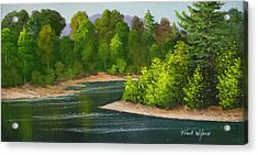 Acrylic Print featuring the painting River Confluence by Frank Wilson
