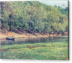 Acrylic Print featuring the photograph River Crossing by Charles McKelroy