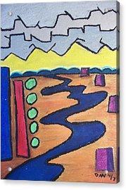 River Acrylic Print by Daav Corbet