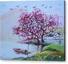 River Day Acrylic Print by Min Wang