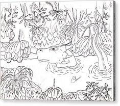 River Dragon Acrylic Print by Lynnette Jones